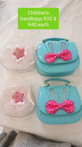 Young girls handbags R20 and R40 each