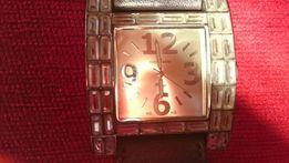 Zegarek damski Jordan Kerr na pasku na rękę cyrkonie skóra naturalna