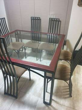 8 Seater Steel Dining set