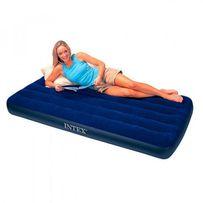 Надувной матрас Intex, надувной диван, синий матрас, велюр,все размеры