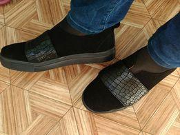 Кожаные туфли - слипоны