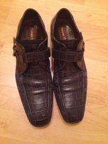 Стильные туфли. Cesare Paciotti. Цвет синий. И ремень в комплекте.