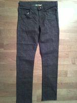 spodnie panterka marki h&m stan idealny 158 cm, na wiosne szare spodni