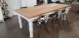 Dining room table ( Newly handcrafted Farmhouse style)
