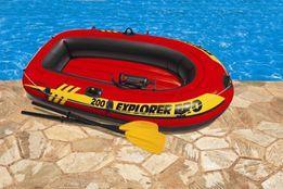 Двухместная надувная лодка lntex Explorer Pro 200 Set 196x102x33 cм