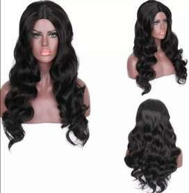 Synthetic body wave wigs