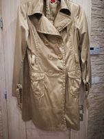 Beżowy płaszcz trench wiosenno jesienny r. 38-40