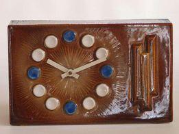 Ceramiczny zegar kominkowy Czechosłowacja lata 60-te