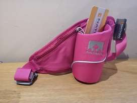 Hydration pack with zip to safe keep your belongings. Never been used.