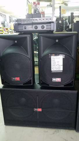 PROTON NEW SPEAKERS WITH AMP XOVER MIXER CABLES