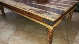 Coricraft lounge table solid wood heavy