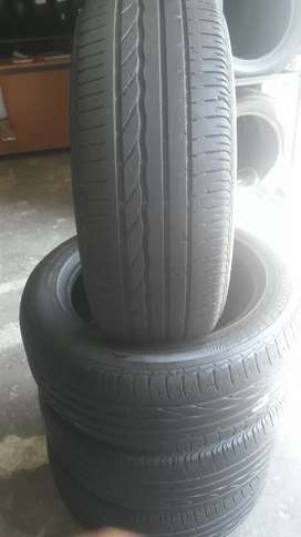 4×205/55/16 four BRIDGESTONE run tyres for sale