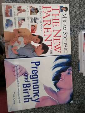 Assorted pregnancy and birth books