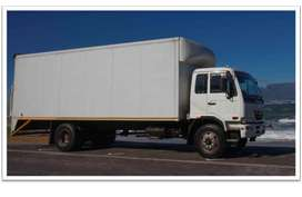 8 ton closed box body truck for hire with the driver /rentalfor hire