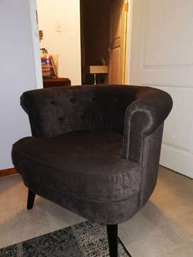 Velvet grey chair
