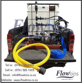 1000L NEW WATER TANK/ FIRE FIGHTER 2.5-9BAR - MOBILE BAKKIE TANK