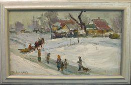 Картина Зимний пейзаж Захаров Ф.З. 1970-е годы