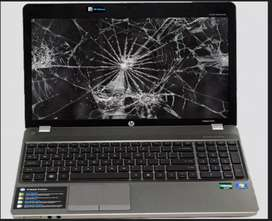 Damaged or broken laptops