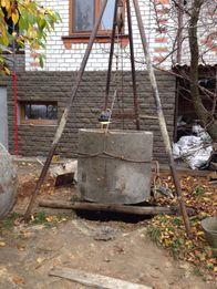 Копка колодцев, чистка и углубления, бетонные кольца