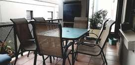 Patio Furniture with Glass table