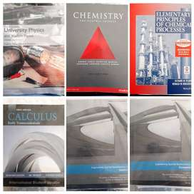 First year Chemical Engineering textbooks