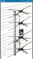 Antena szerokopasmowa w kompecie zasilacz i płytka