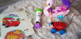 Zestaw zabawek w tym mikrofon fisher price