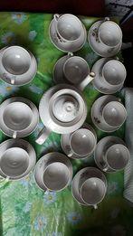 Чайный сервиз СССР на 12 персон (большой чайник, чашки, блюдца, 25 пр)