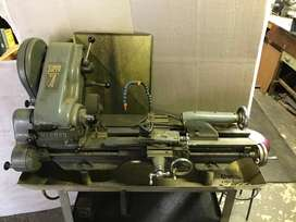 Myford Super-7 steel lathe, on stand