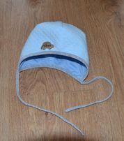 Śliczna czapka niemowlęca obwód głowy 40 cm
