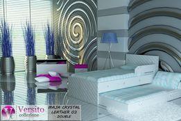 Łóżko dla dziecka piętrowe,skóra ekologiczna,2 materace, KRYSZTAŁKI