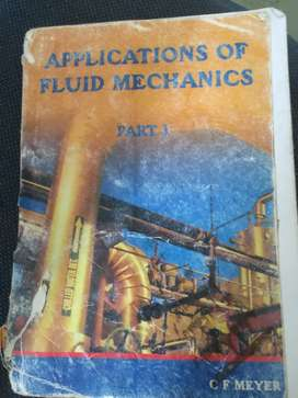 Applications of fluids mechanic by C.F Meyer for R300