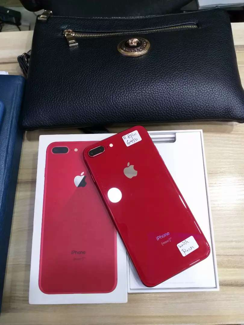 Clean iPhone 8plus Red 64gb for sale 0