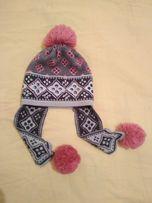 Зимняя шапка на девочку на ОГ 52-54