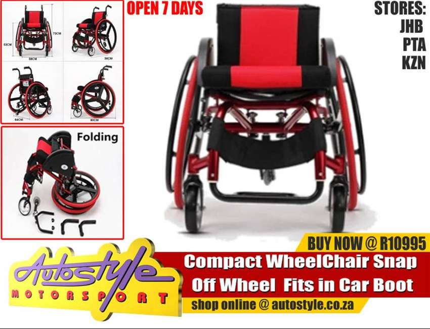 Wheelchair - Compact Fold up  Wheel Chair Snap Off Wheel  Fits in Car 0