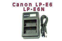 Для Canon LP-E6 Двойное USB зарядное устройство Batmax зарядка ЮСБ