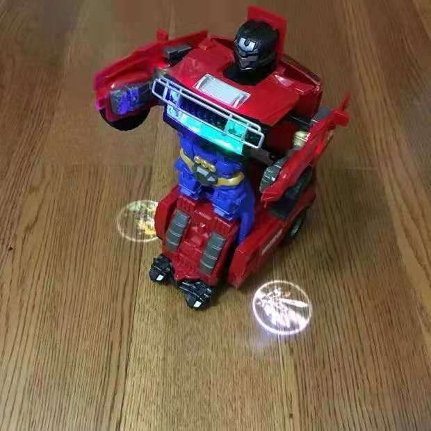 buggy deformation robot toy projection function rainbow light 0