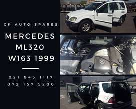 Mercedes ML320 W163, 1999 stripping for spares