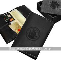 Кожаная Обложка на паспорт + Подарок (Итальянская кожа) Ручная работа