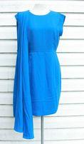 niebieska sukienka wizytowa zalando