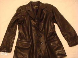 Продам женский черный кожаный пиджак