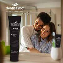 Экстра-отбеливающая зубная паста Dentissimo Extra Whitening 75мл.Black