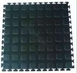 Black PVC Heavy Duty Interlocking Floor Tile