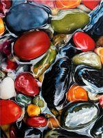 Картина маслом (море, галька, камушки, ракушки)