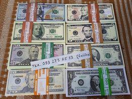 Сувенирные деньги Долары, Гривны, Евро и РУбли