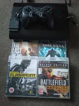 Ps3 slim 12gig extendable storage with 4 games