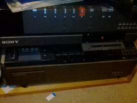 Betamax VCRs and 8mm projector