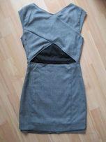 Pull&bear nowa sukienka szara dekolt na plecach 36 zara bershka
