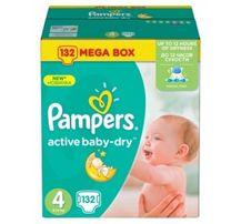 подгузники Pampers Active Baby MAXI (8-14 КГ) MEGA 132 ШТ.
