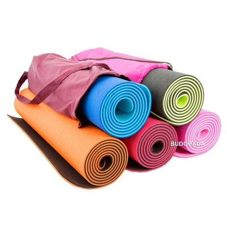 Профессиональный Коврик, каремат для йоги, фитнеса, спорта. мат TPE+TC Киев - изображение 1